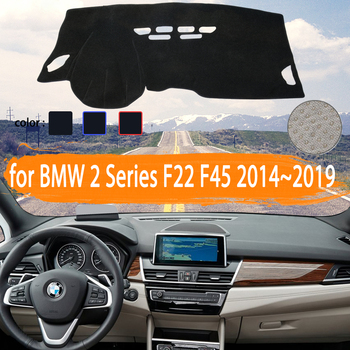 for BMW 2 Series F22 F45 Coupe Gran Active Tourer Car Dashboard Cover Dashmat Avoid light Sun Shade Carpet Car Accessories image