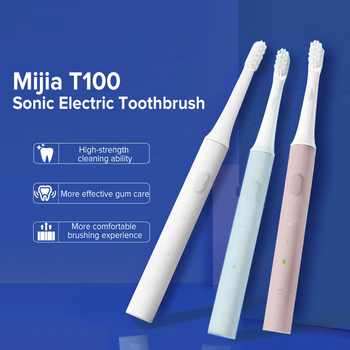 Xiaomi Mijia T100 Sonic Electric Toothbrush Heads Adult Ultrasonic Automatic Toothbrush USB Rechargeable Waterproof Tooth Brush xiaomi mijia t100 sonic electric toothbrush adult waterproof ultrasonic automatic toothbrush usb rechargeable oral dental care