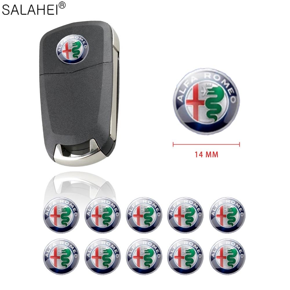Логотип автомобиля 14 мм, ключ для эмблемы, значок для выхода кондиционера, наклейка для ALFA ROMEO Mito 147 156 159 166 Giulietta Spider GT