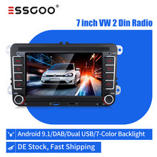 Essgoo Car Radio 2 Din Android 9.1 For Volkswagen/VW/Skoda/Seat Autoradio Bluetooth 2din GPS Multimedia Player Button Backlight
