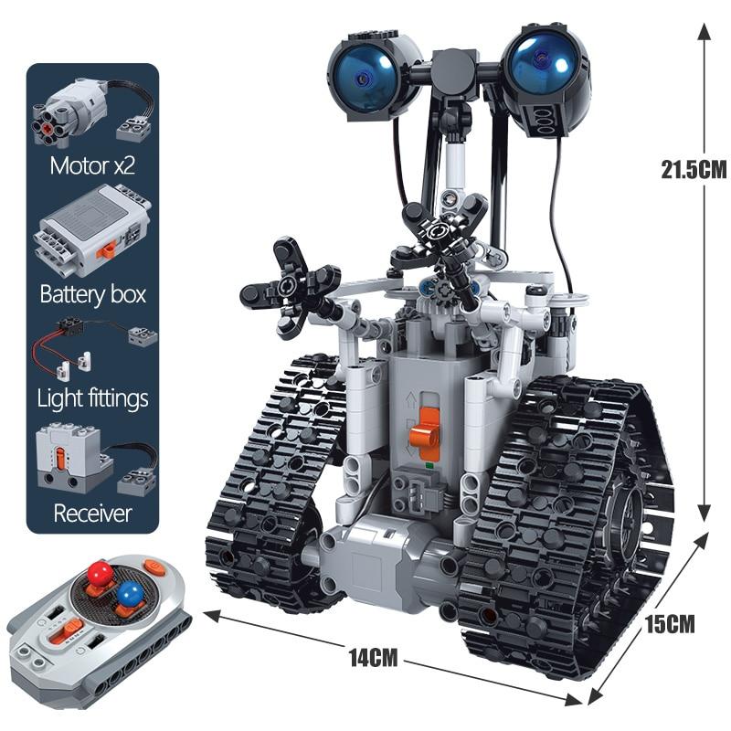 ZKZC 408PCS City Creative RC Robot Electric Building Blocks Technic Remote Control Intelligent Robot Bricks Toys For Children 6