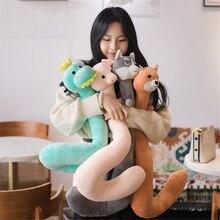 Multifunctional Portable Lazy U-shaped Pillow Mobile Phone Bracket Short Plush Animal Chai Dog Creative U-shaped Neck Pillow