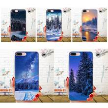 For LG K50 Q6 Q7 Q8 Q60 X Power 2 3 Nexus 5 5X V10 V20 V30 V40 Q Stylus Pattern Hard Phone Case Winter Snow Forest(China)