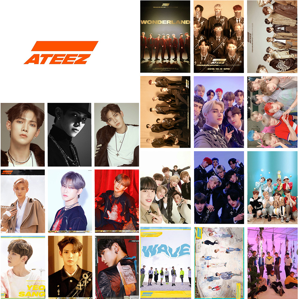 16pcs/set Kpop Ateez Photocard Album Photo Lomo Card Poster K-pop ATEEZ C New Arrivals YEO SANG MINGI