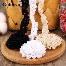 1Meter Elasticity Cotton Lace Trims Edge Colthing DIY Sewing Crafts 1.4cm Width