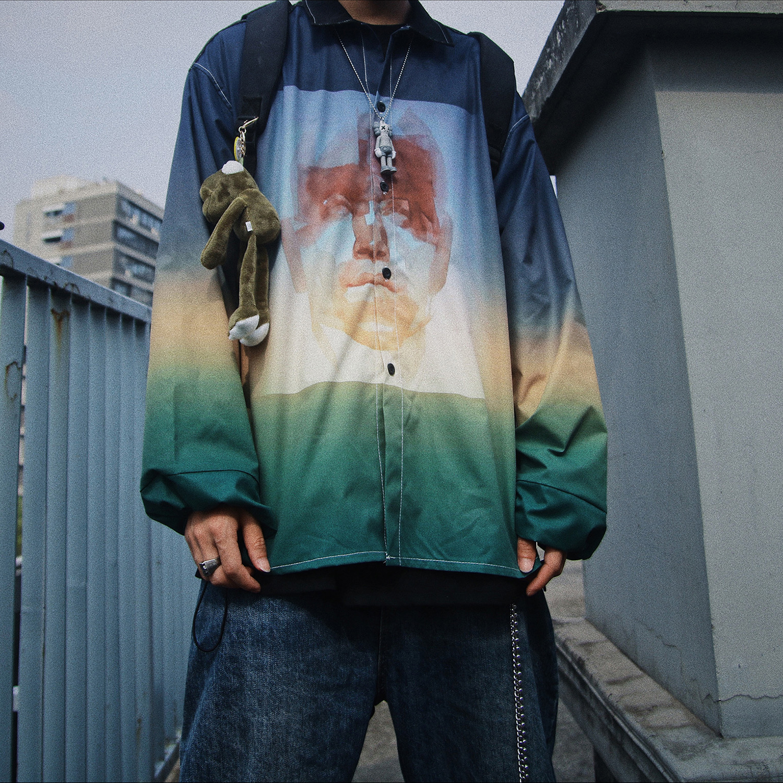 Camisas dos homens casuais ajuste regular de alta moda streetwear hip hop camisa masculina impressão de grandes dimensões camisas soltas designer homens qualidade
