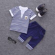 T-Shirt Tracksuits Pants Clothing-Sets Baby-Boys Kids Child Infant Boy IENENS 2PC Denim