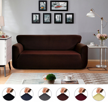 All-inclusive Knitting Sofa Cover Slipcovers Couch Polar Fleece Elastic Fabric Spandex Set for Living Room  D30
