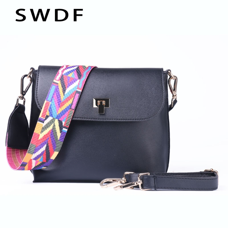 SWDF Pure Color Designer Shoulder Bags Women Bag Over The Shoulder Purses And Handbags Messenger Bag Female Beach Lady Clutches in Shoulder Bags from Luggage Bags