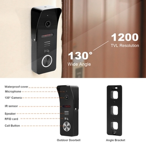 Image 4 - HomeFong проводной видео дверной звонок с CCTV камерой 7 дюймов монитор дверной Звонок камера видеодомофон для дома Поддержка обнаружения движения