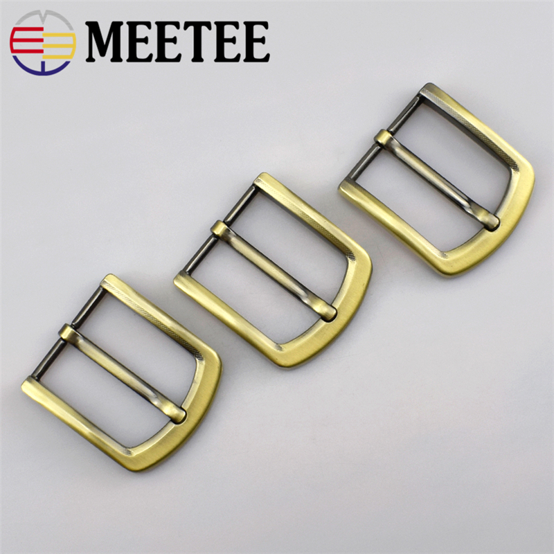 Deepeel 4cm Metal Antique Brass Belt Buckle Solid Pin For Men Belt Adjustable Buckle DIY Leather Craft Accessories F1-81