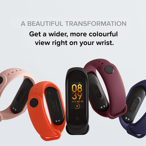 "Image 5 - 2019 Original Xiaomi Mi Band 4 Newest Music Smart Bracelet Heart Rate Fitness Tracker 0.95"" Color AMOLED Screen BT 5.0 Wristband"