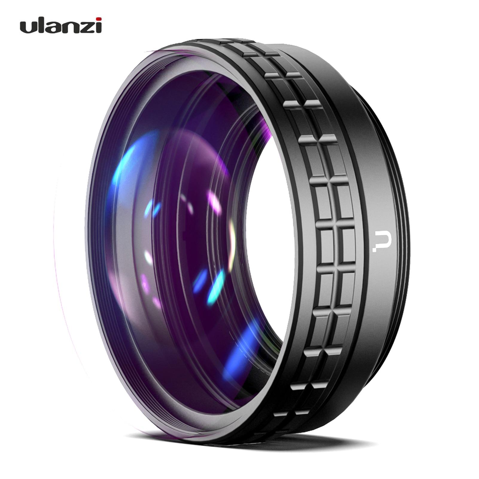 Ulanzi 18 мм Широкий формат объектив 10X макро объектив 2-в-1 дополнительный объектив внешнее кольцо-переходник для замены для Sony ZV1 RX100M7 камеры