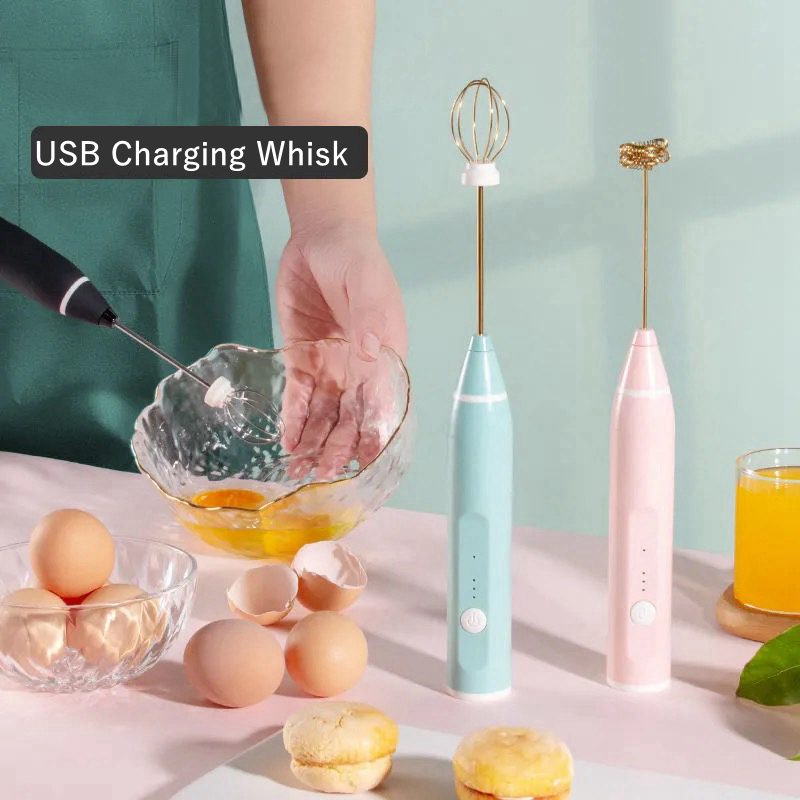 Portable USB Charger Electric Milk Frother Egg Beater Whisk Drink Mixer for Coffee, Milk, Cappuccino, Egg Beating ,Kitchen Tools