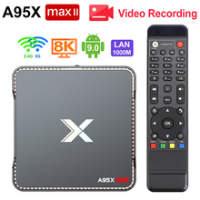 Boîtier TV et enregistrement vidéo Android 9.0, Amlogic S905X3 Quad Core, 4 go/64 go, Wifi 2.4/5GHz, bt 4.2, 1000M, 4K, PVR