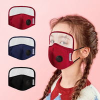 Face Mask With Eyes Protection With Breathing Valves For Adults Children Protective Dustproof Windproof Masks Dropshipping
