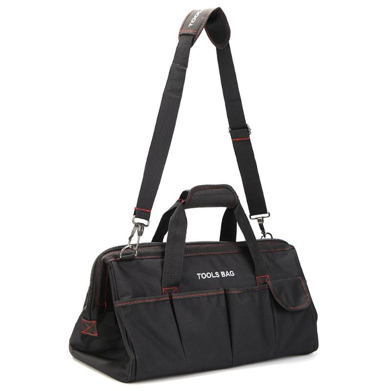 Multi-function Adjustable Tool Bag Shoulder Bag Repair Tools Oxford Waterproof Large Size Metal Frame Port Handbag Organizer