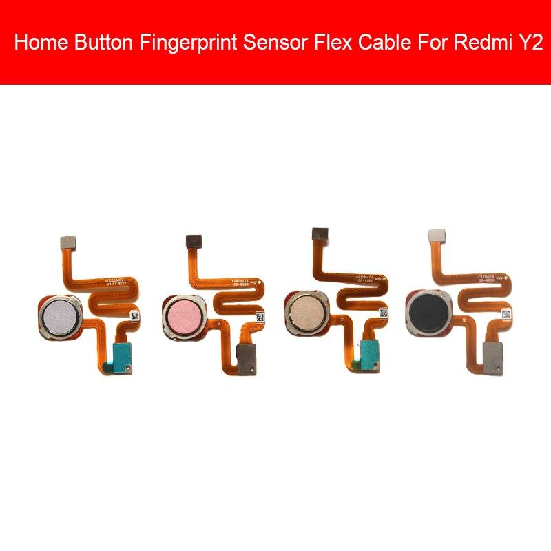 Fingerprint Home Button Flex Cable For Xiaomi Redmi S2 Y2 Menu Return Keypads Sensor Flex Cable Ribbon Replacement Repair Parts