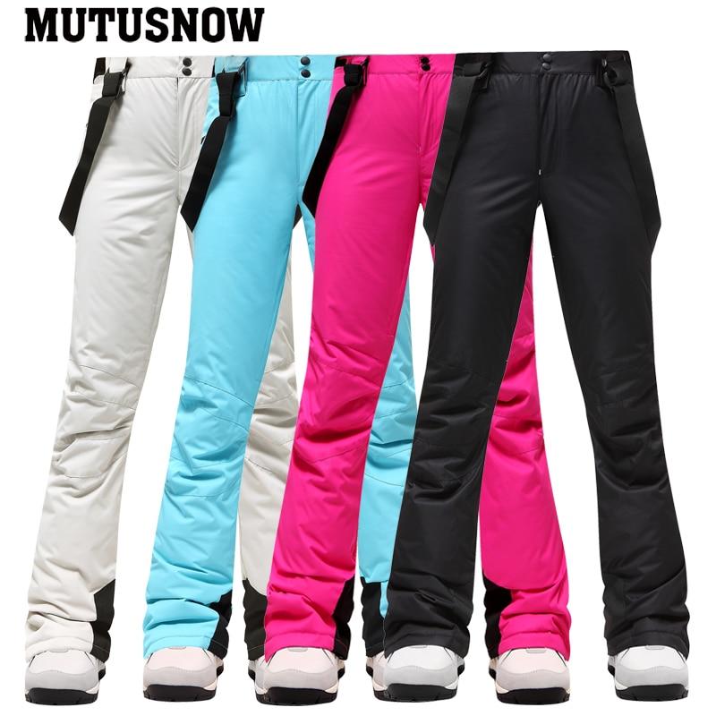 2020 New Winter Ski Pants Women Outdoor High Quality Windproof Waterproof Warm Snow Trousers Winter Ski Snowboarding Pants Brand