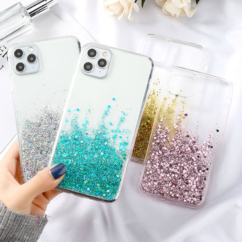 Silicon Phone Case For Iphone 11 Case Fahion Bling Glitter Fundas For Iphone 12 Pro Max Mini XR XS 7 8 Plus 6 6s SE 2020 Covers  1