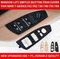 Автомобильный Стайлинг Черный Бежевый автомобильный внутренний стеклоподъемник Кнопка декоративный кожух для BMW 7-series F01 F02 730 740 09-2016