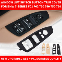 Car Styling Black Beige Car Interior Inner Window Lift Switch Button Panel Trim Cover For BMW 7 series F01 F02 730 740 09 2016