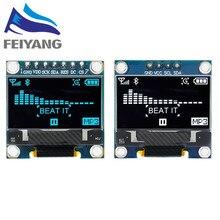 4pin 7pin ssd1306 branco/azul/amarelo azul cor 0.96 polegada 128x64 módulo de exibição oled para arduino 0.96