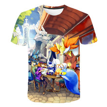 2019 NEW Pokemon go Fire Men T Shirts 3D Magic Animal T Shirts Casual Comic Men T Shirts Short Sleeve Tees Tops Male XXS-6XL
