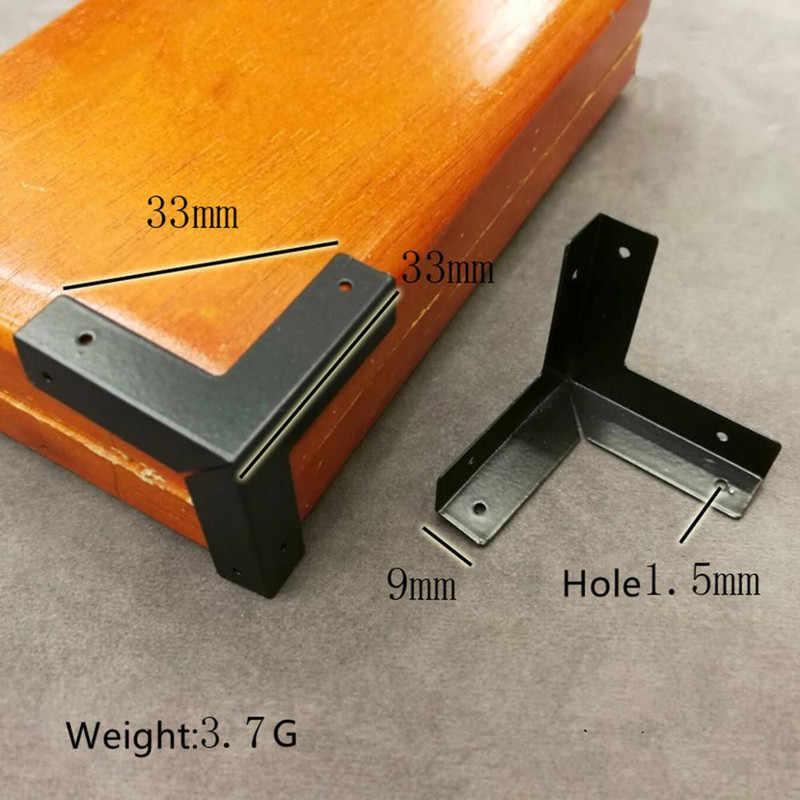 Esquina de Muebles Decorativos WHK 12 Protectores de Esquina de Caja Protector de Esquina de Pierna de Caja de joyer/ía de Madera