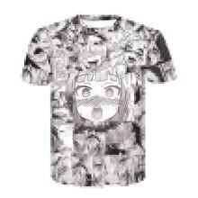 Ahegao t shirt Summer 2019 anime top short sleeved fashion