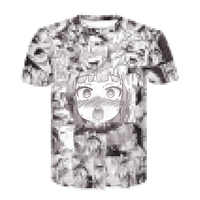 Ahegao t shirt Sommer 2019 anime top kurzarm mode T-shirt hip hop kurzarm spaß casual t-shirts für männer und frauen
