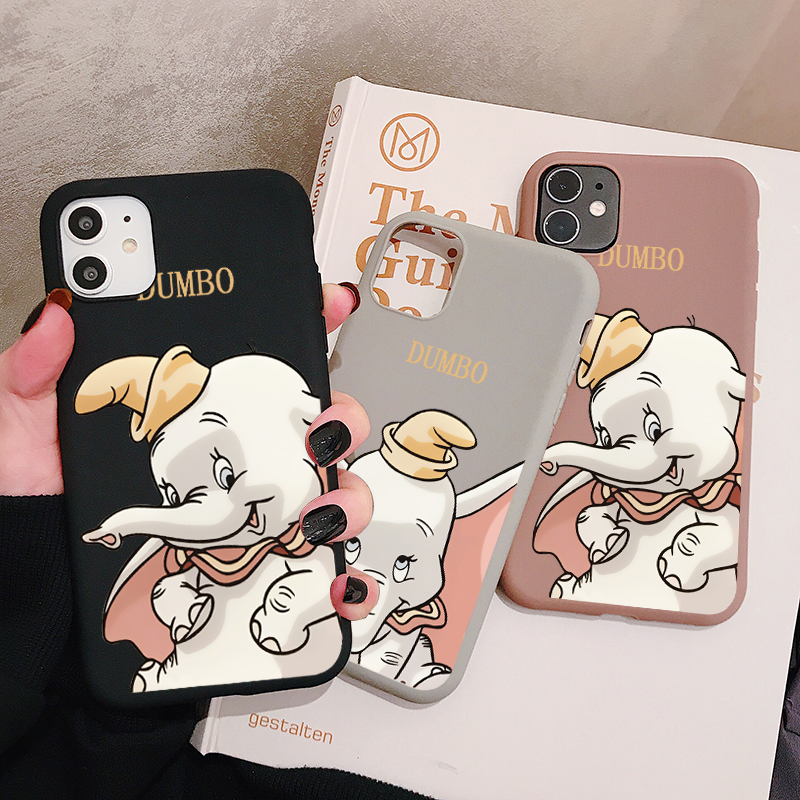 Cartoon Dumbo Elephant Phone Case For <font><b>Samsung</b></font> Galaxy S20 S10 S9 S8 S7 Plus Ultra Lite edge <font><b>S10e</b></font> Silicone Cases Soft Cover image