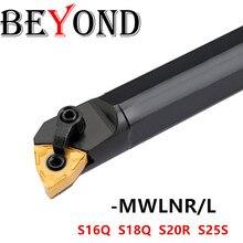BEYOND MWLNR S20R-MWLNR08 S16Q-MWLNR08 S25S-MWLNR08 токарный станок с ЧПУ Токарный Инструмент Держатель карбида WNMG0804 S16Q-MWLNL08 MWLNR08