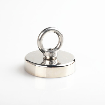 7 Size Super Strong Permanent Neodymium  Pot Magnetic  Fishing Tool with Rope Magnet Sink hole and eyebolt Deep Sea Salvage Hook super strong magnet pot fishing hook magnets deep sea salvage holder pot magnets imanes strongest permanent powerful magnetic