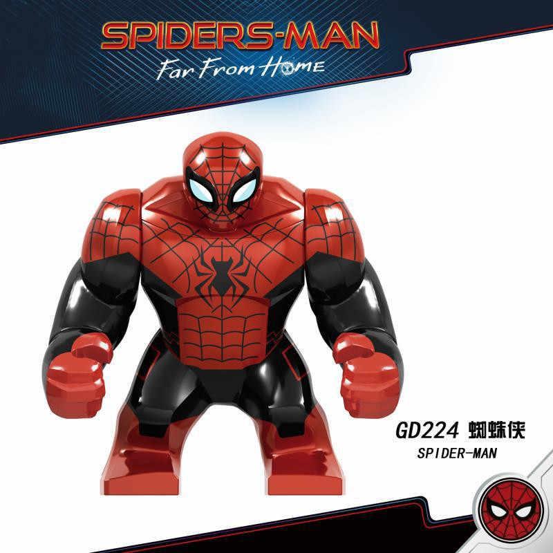 Marvel superbohaterowie woda ogień ziemia wiatr 4 elementy Iron Man Hulk Spiderman Batman klocki do budowy zabawki dla dzieci Avengers figurki zestaw