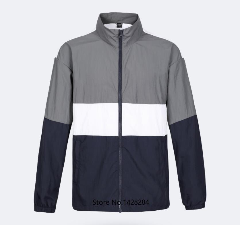 새로운 uleemark 남자의 동향 colorblock 스포츠 재킷 anti splash 착용 반사 인쇄 통기성 야외 운동복-에서의복커버부터 홈 & 가든 의  그룹 1