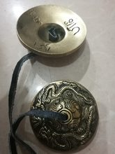 ¿Popular de China Budismo Tibetano antiguo hermoso cimbal de cobre shamán exorcismo?