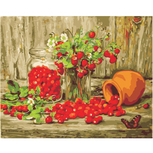 WEEN Strawberry Jam-DIY Oil Painting By Numbers Kit,Acrylic Paint,Wall Art Picture,Hand Painted Canvas 40x50cm