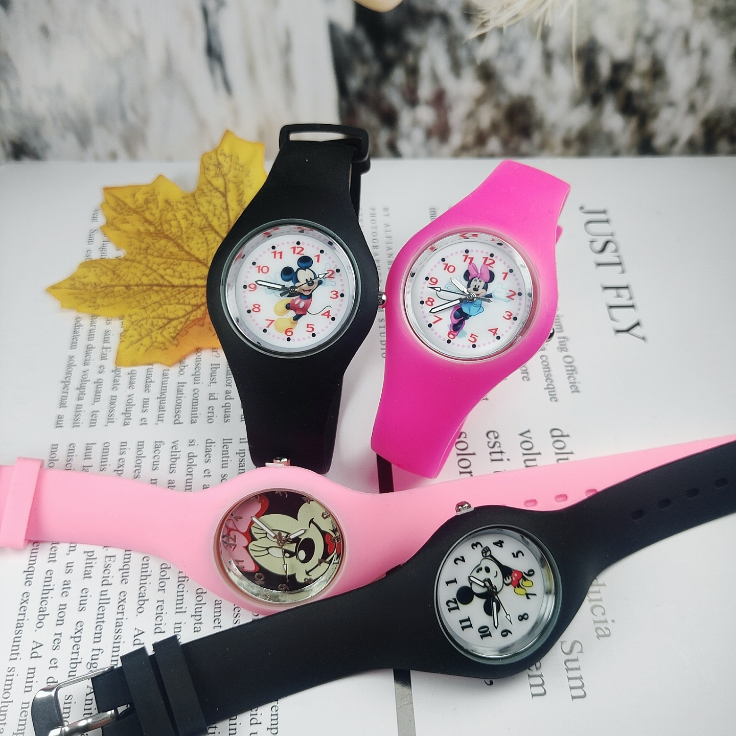 Disney Cartoon Mickey Mouse Wristwatch Silicone Watch Band Cartoon Children Cute Kids Watches Boys And Girls