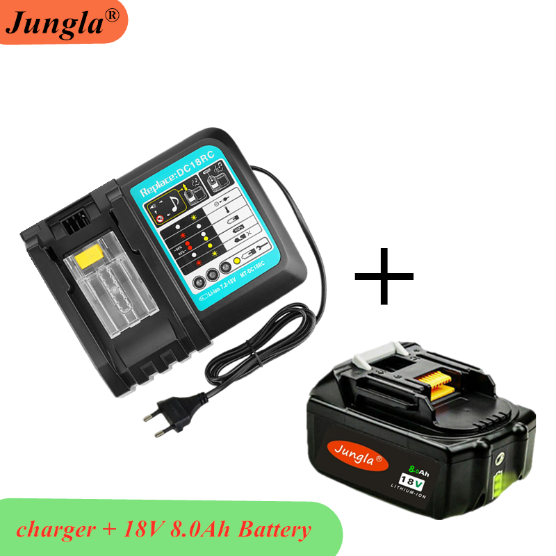 100% Original 18V 8A Rechargeable Battery 8000mah Li-Ion Battery Replacement Power Tool title=