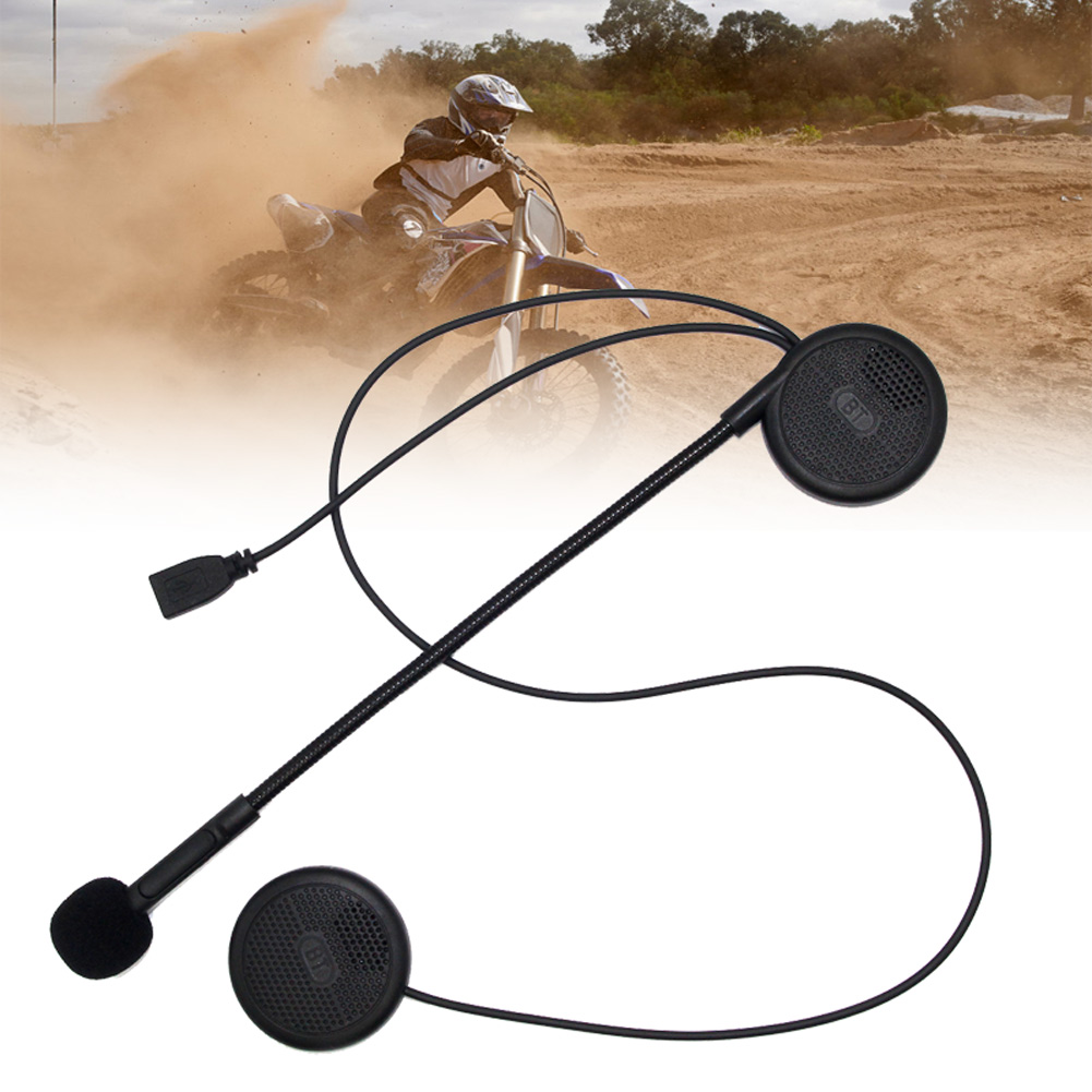 Ultra-thin Motorcycle Helmet Bluetooth Headset Helmet Wireless Earphone with Sponge MIC EM88