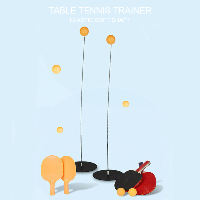 Table Tennis Trainer Tennis Soft Shaft Training Machine Elasticity  High Quality Rapid Rebound Ping Pong Ball Stroking Trainer