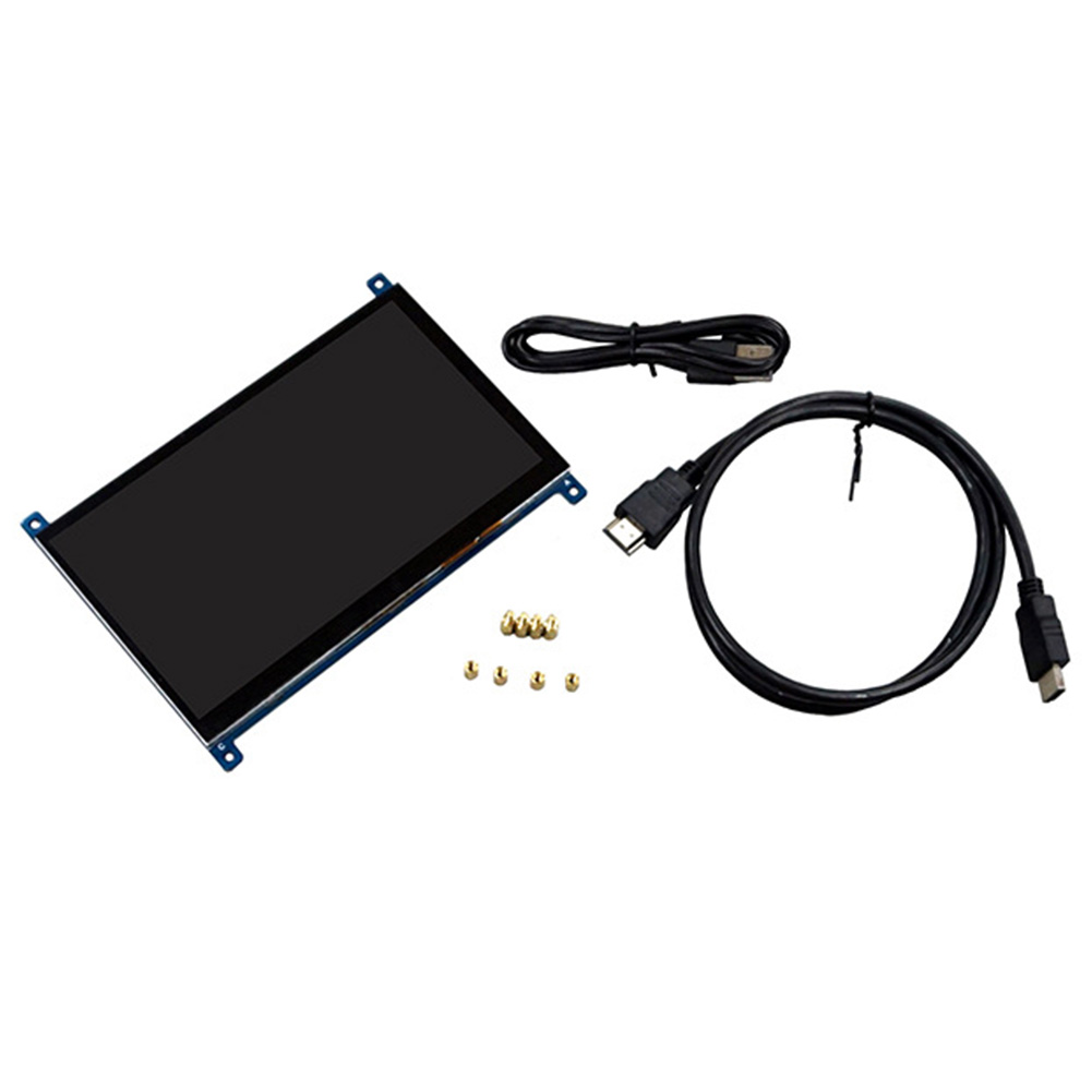 7 Inch High Resolution Module Metal Clear <font><b>Display</b></font> Monitor <font><b>Capacitive</b></font> LCD Screen Touch Screen 1024x600 HDMI For <font><b>Raspberry</b></font> <font><b>Pi</b></font> IPS image