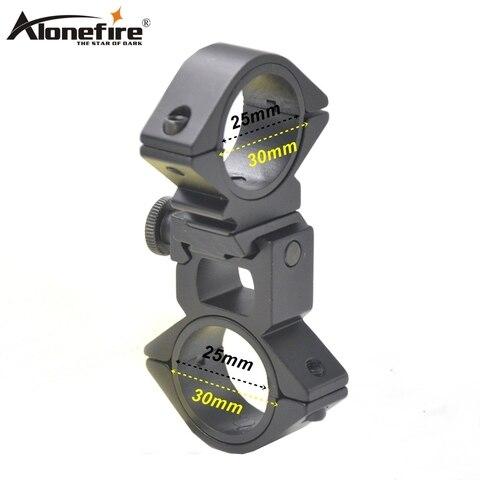 Adaptador de Visão Alonefire Caça Liberação Rápida Escopo Montar Anel Laser Bicicleta Luz Tocha Lanterna Clipe Titular 30mm – 25.4mm