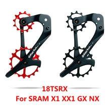 KACTUS 18TSRX 12/18T Keramik Lager Fahrrad Schaltwerk Set Carbon Fiber Körper Bike Pulley Rad Hinten für SRAM X1 XX1 GX NX