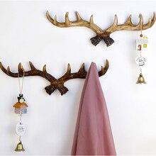 Perchero para colgar en la pared, decoración del hogar, decoración del hogar con cuernos creativos Vintage