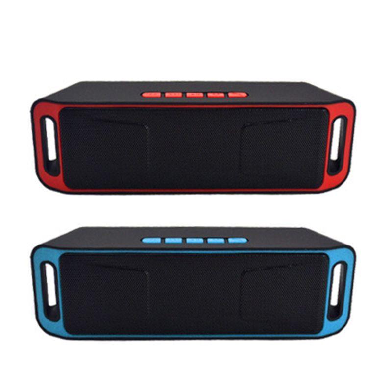 SC208 беспроводной автомобильный Bluetooth динамик открытый мини двойной сабвуфер стерео динамик