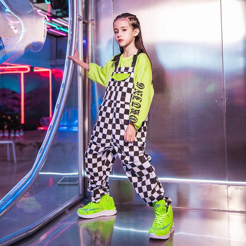 Kids Dance Clothes Jazz Ballroom Dancing Festival Costumes Sweatshirt Tops Pants Hip Hop Costumes For Girls Show Stage Wear