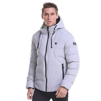Θερμαινόμενο ηλεκτρικό ανδρικό jacket usb με πούπουλα σε μεγάλα μεγέθη