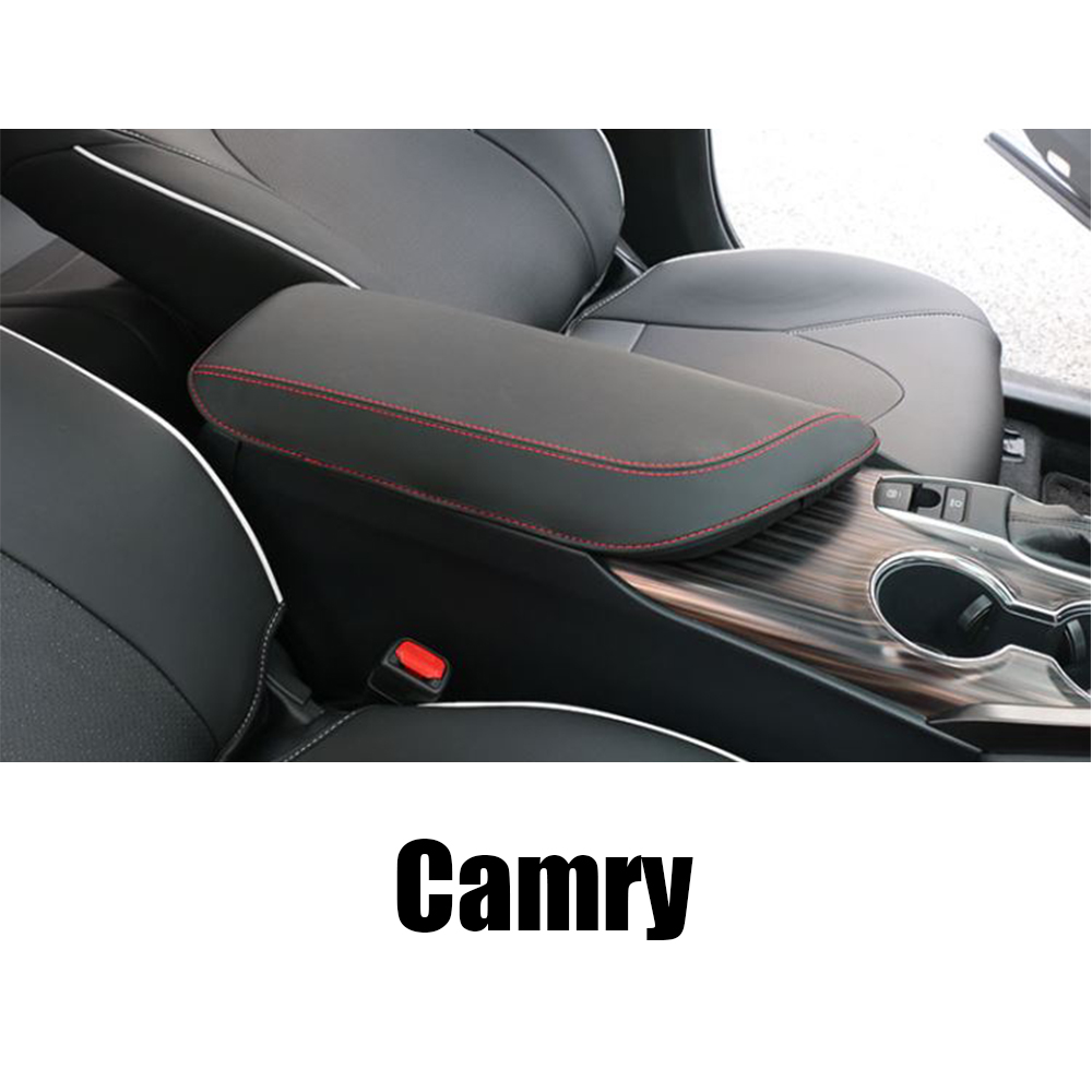 For Toyoda Camry 2018 Central armrest box protection PU leather Pad cover interior decoration accessories in Interior Mouldings from Automobiles Motorcycles